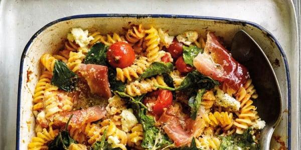 Tomato, ricotta and spinach pasta bake #pasta #dinner #recipe