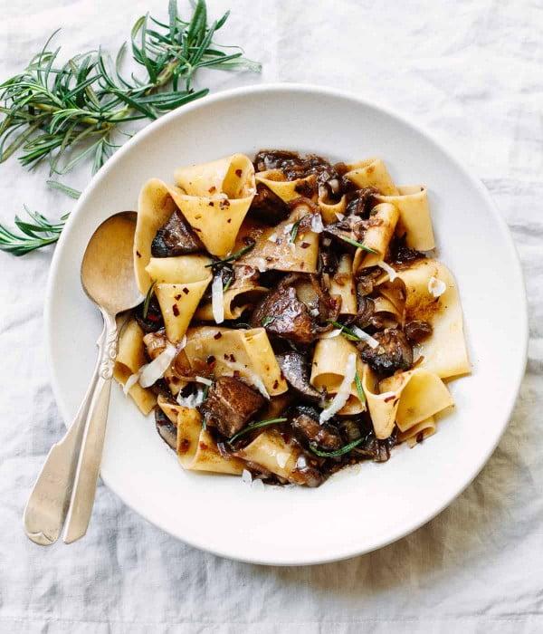 Pappardelle Pasta with Portobello Mushroom Ragu #pasta #dinner #recipe