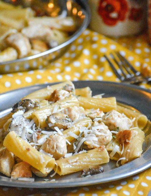 One Pot Chicken Marsala Pasta #pasta #dinner #recipe
