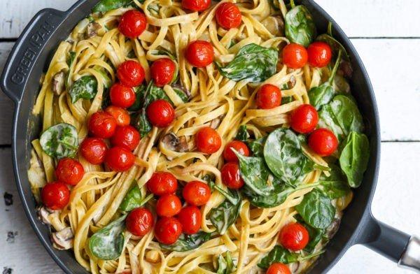 Creamy Vegan Mushroom & Spinach 20 #pasta #dinner #recipe