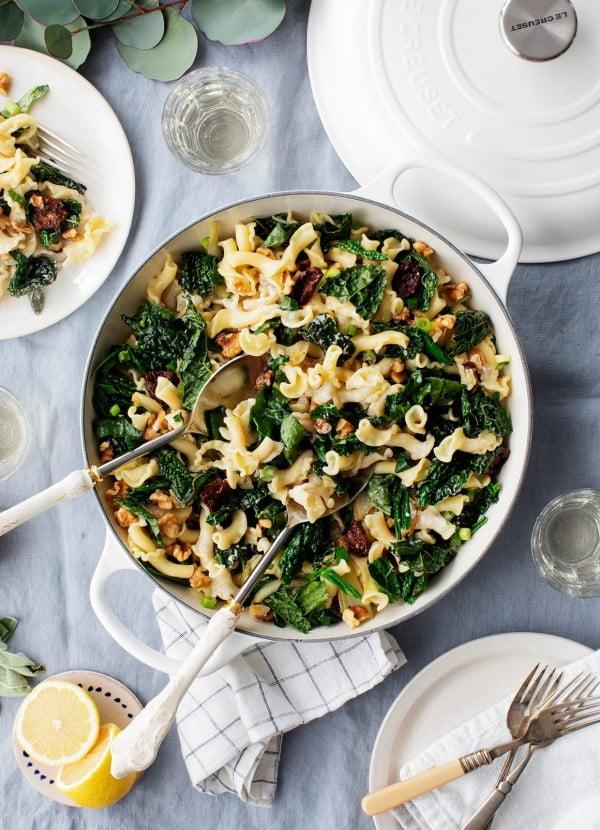 Winter Fennel, Sage & Kale Pasta Recipe #pasta #dinner #recipe