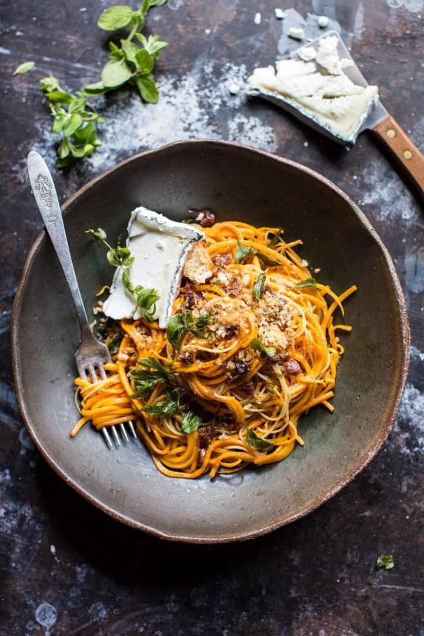 Butternut Squash Goat Cheese Pasta. #pasta #dinner #recipe