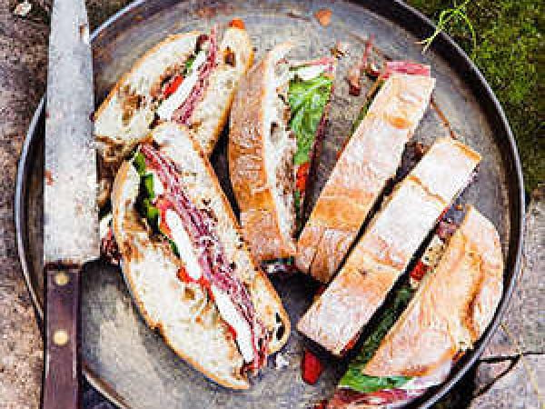 Pressed Italian Sandwiches #picnic #recipe #lunch