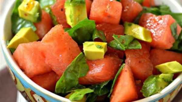 Avocado Watermelon Salad Recipe #picnic #recipe #lunch