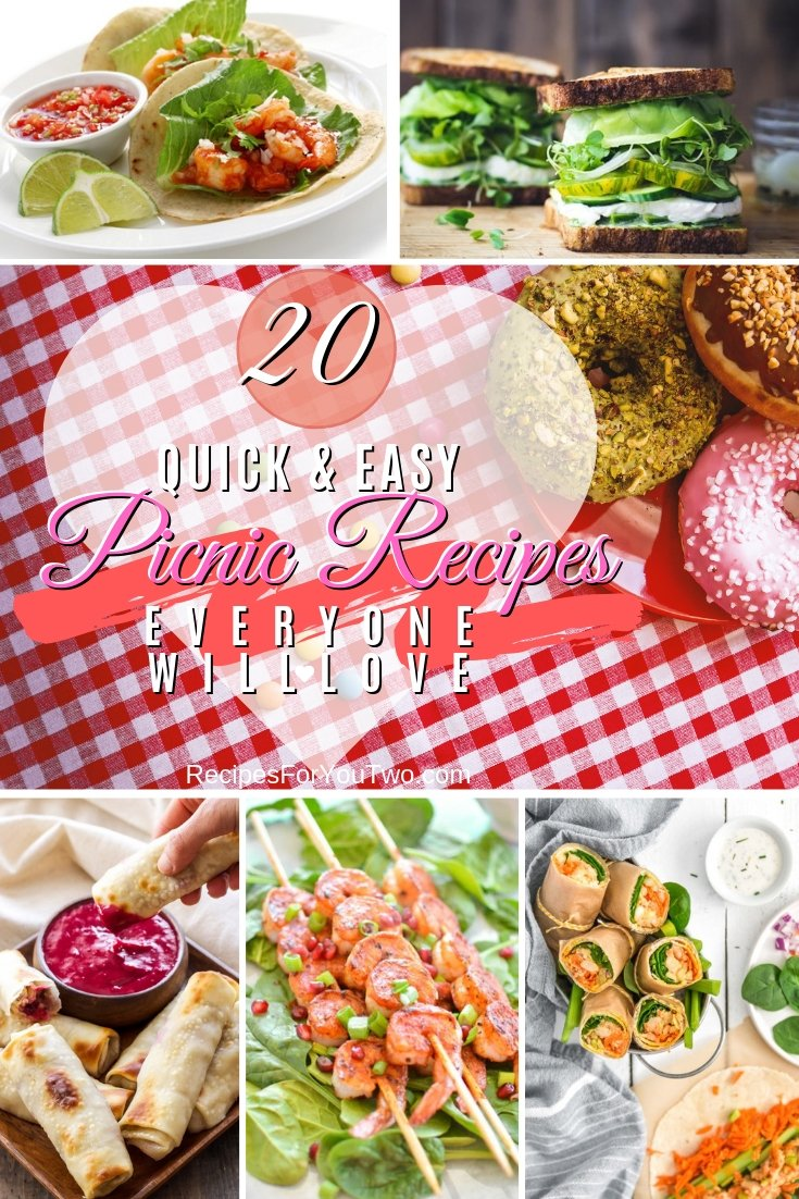 Get ready for the picnic season and family outings. Here are 20 amazing recipes to try! Great list! #recipe #picnic #lunch