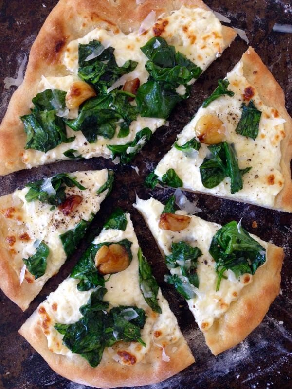 Ricotta Spinach Pizza Recipe • CiaoFlorentina #pizza #dinner #recipe