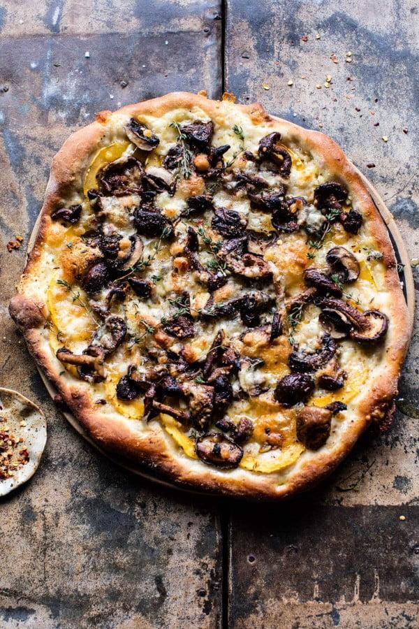 Balsamic Mushroom and Goat Cheese Pizza. #pizza #dinner #recipe