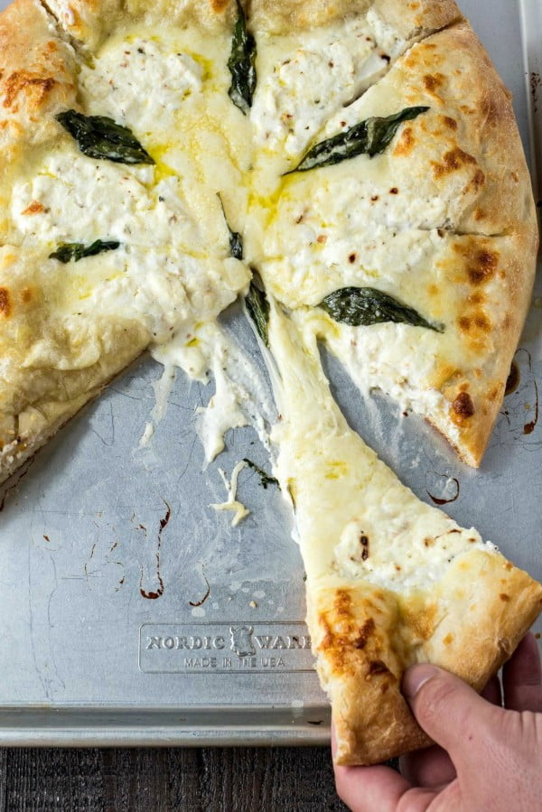 The Best Pizza Bianca (White Pizza) #pizza #dinner #recipe
