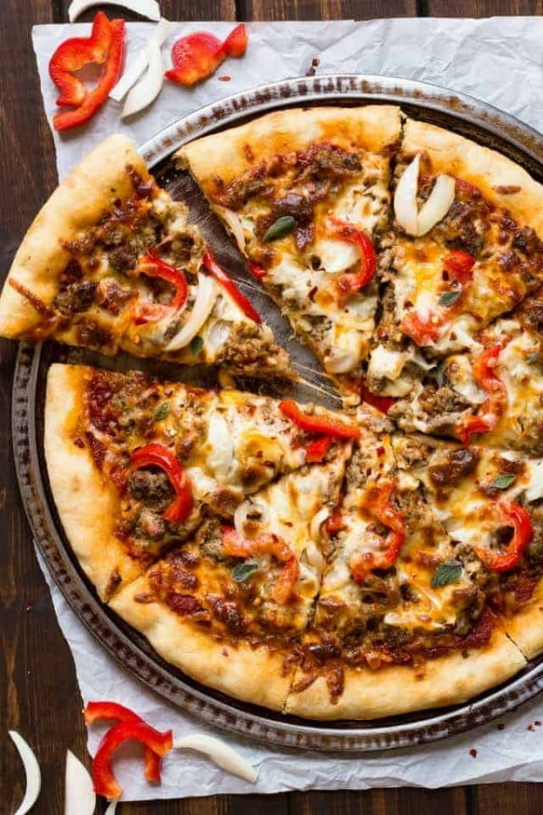 Baked by an Introvert #pizza #dinner #recipe
