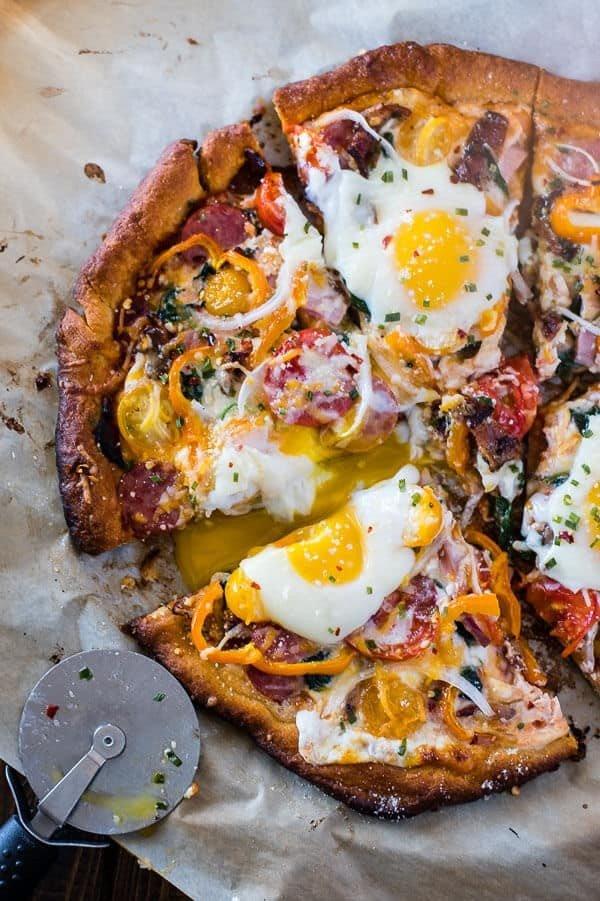 Supreme Breakfast Pizza #pizza #dinner #recipe