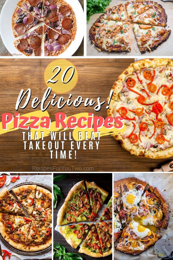 These homemade pizzas will beat takeout every time! Choose from 20 amazing pizza recipes. Great list! #recipe #pizza #dinner