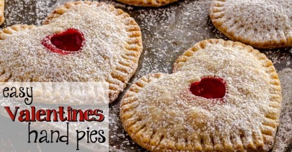 Easy Valentines Hand Pies #romantic #recipe #dessert