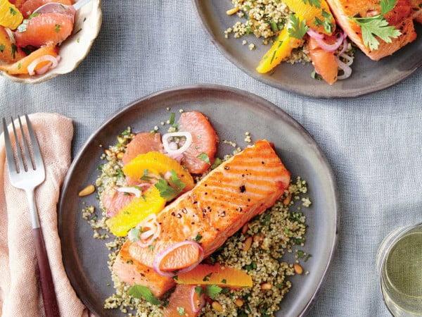 Sautéed Salmon with Citrus Salsa #steak #recipe #dinner