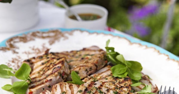 Tuna steaks with chermoula #seafood #dinner #recipe