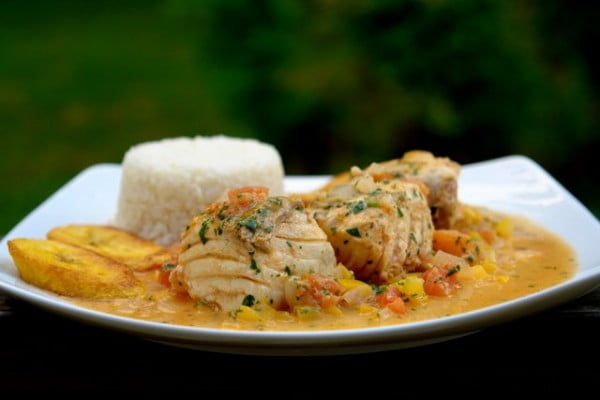 Pescado encocado or fish with coconut sauce - Laylita's Recipes #seafood #dinner #recipe
