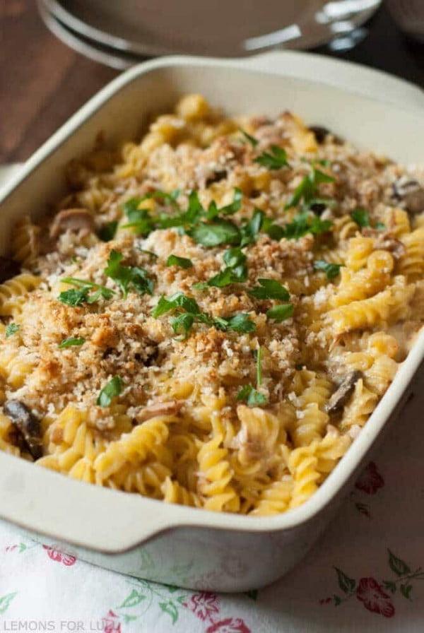 Tuna Noodle Casserole - LemonsforLulu.com #seafood #dinner #recipe