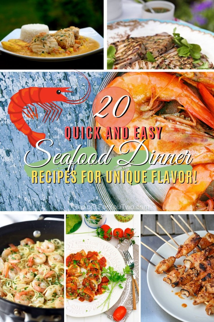 Add some flavor to your dinner night with delicious seafood dishes. Here are 20 quick and easy recipes to try. Great list! #recipe #seafood #dinner