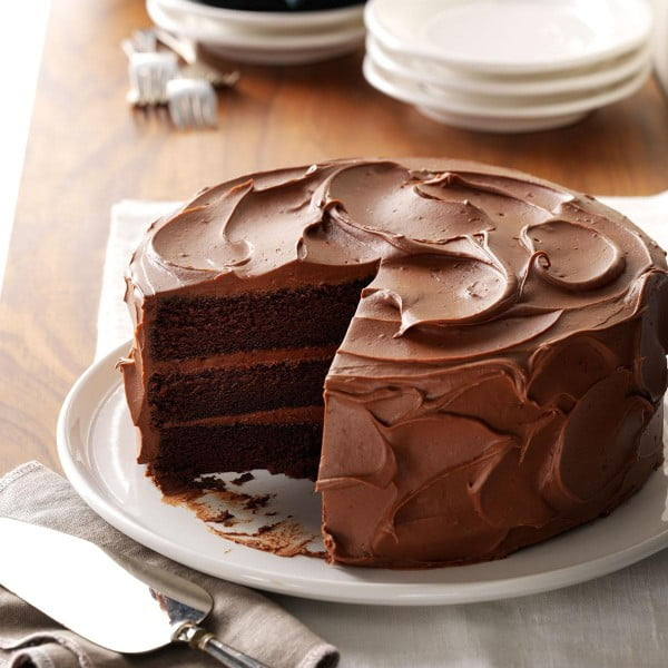 Sandy's Chocolate Cake Recipe | Taste of Home #cake #recipe #dessert