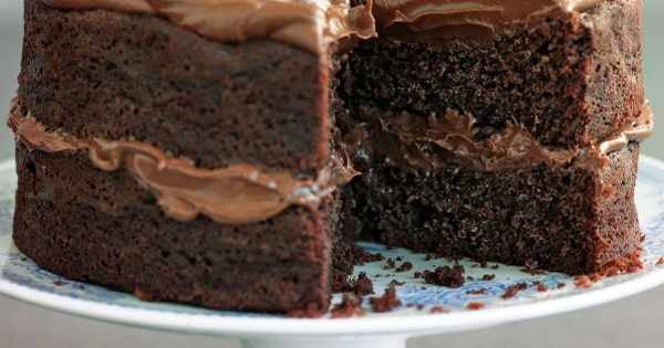 Easiest ever chocolate fudge cake #cake #recipe #dessert