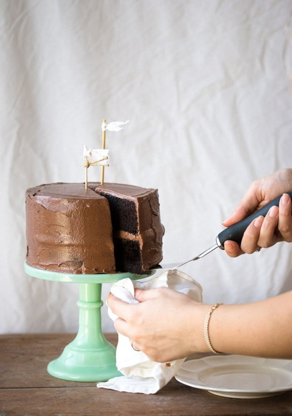 Easy Chocolate Layer Cake | Pretty. Simple. Sweet. #cake #recipe #dessert