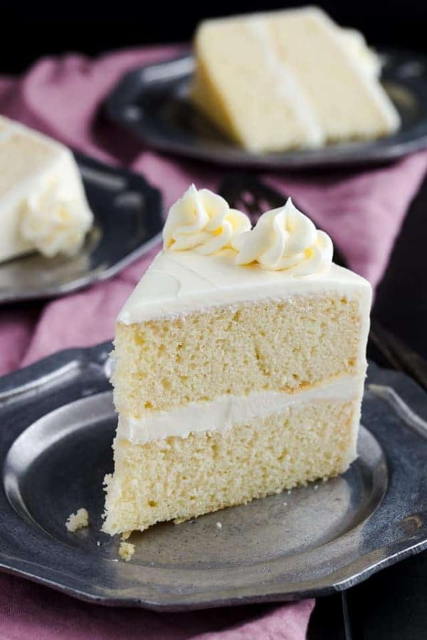 Homemade Vanilla Cake Recipe | Baked by an Introvert #cake #recipe #dessert