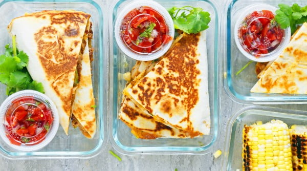 Spicy Chicken Ranch Quesadillas + Meal Prep #chicken #spicy #dinner