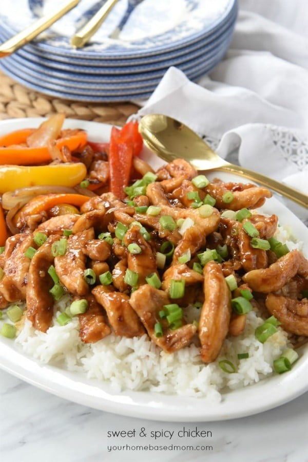 Sweet and Spicy Chicken #chicken #spicy #dinner