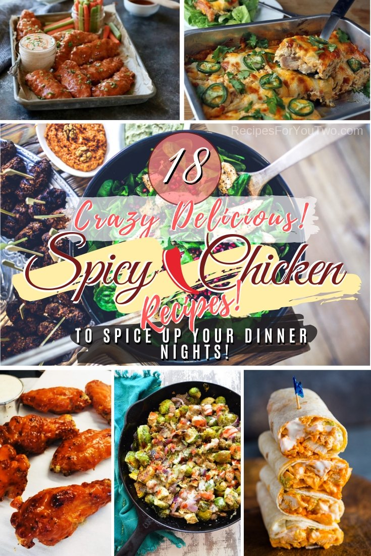 Spice up your dinner nights with these crazy delicious spicy chicken recipes! Great list! #dinner #chicken #spicy