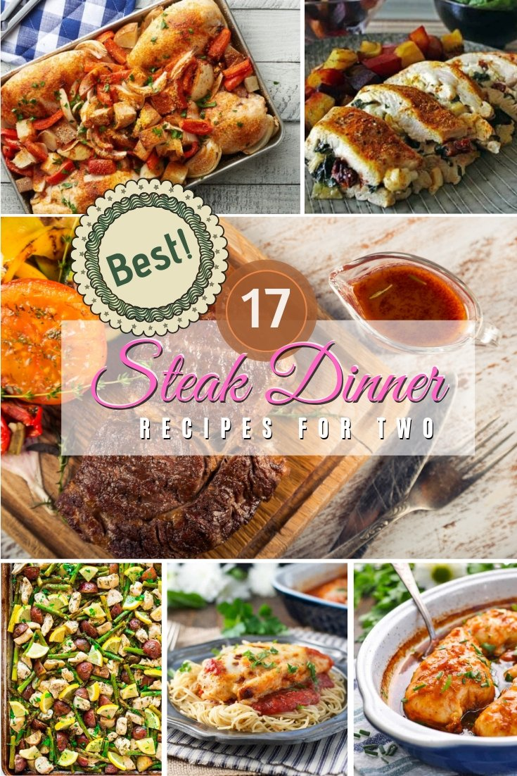 Steak for dinner is always a great choice, especially if you're cooking for two. Here are the best easy steak dinner recipes for two! #recipe #dinner #steak