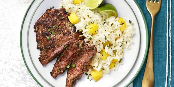 Chili Steak with Hawaiian Rice #steak #recipe #dinner