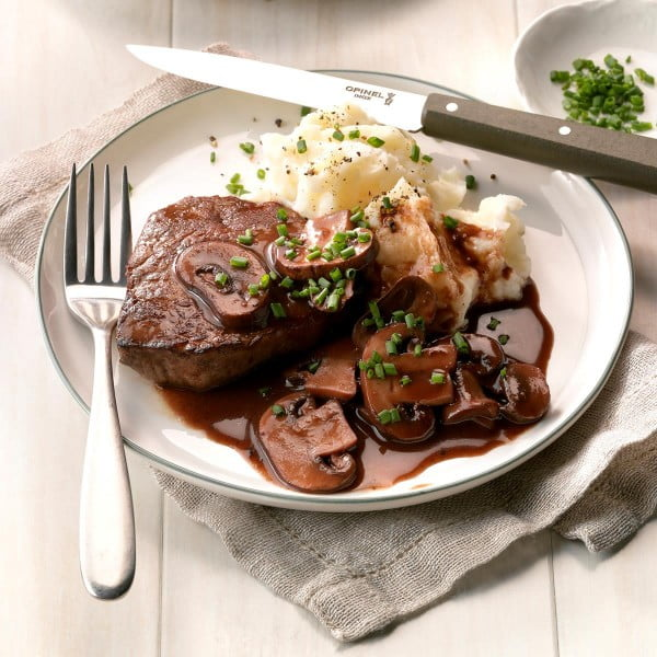 Beef Filets with Portobello Sauce #steak #recipe #dinner