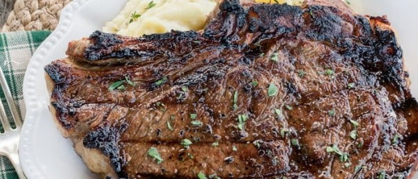 BEST Steak Marinade for Grilled Ribeye Steaks #steak #marinade #bbq #grill #dinner