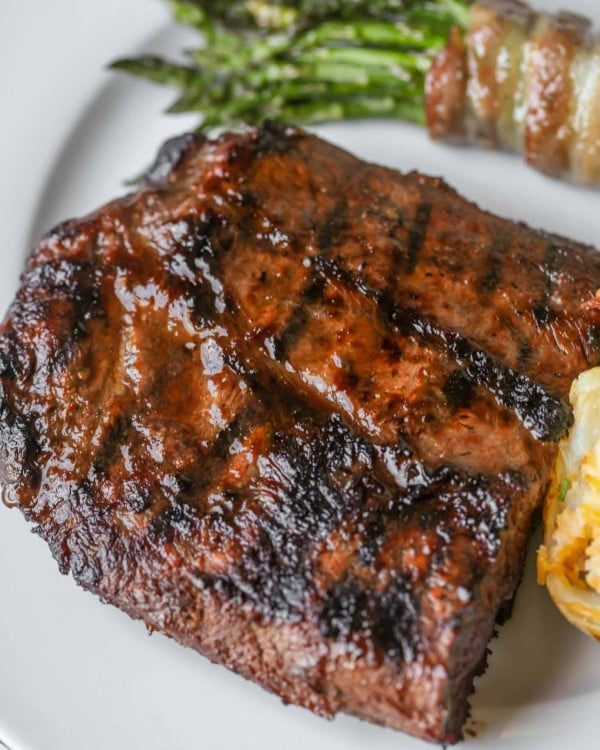 Simple 3-Ingredient Steak Marinade Recipe #steak #marinade #bbq #grill #dinner
