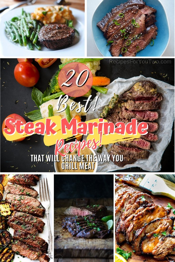 The BBQ and grill season is coming and you should get ready to make the best steaks ever! Here are 20 terrific steak marinade recipes to choose from! #recipe #steak #grill #bbq #dinner