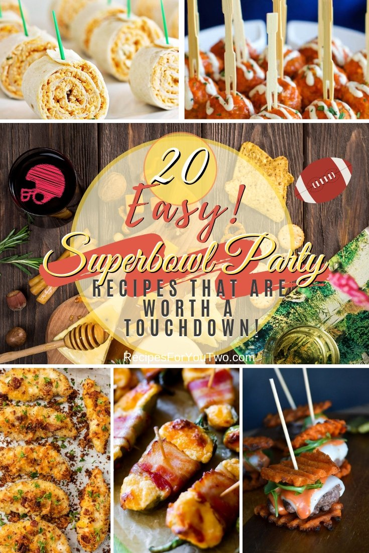 Get ready for the Superbowl party night the right way. Here are the best party food recipes to try. Great list! #recipe #superbowlparty #snacks