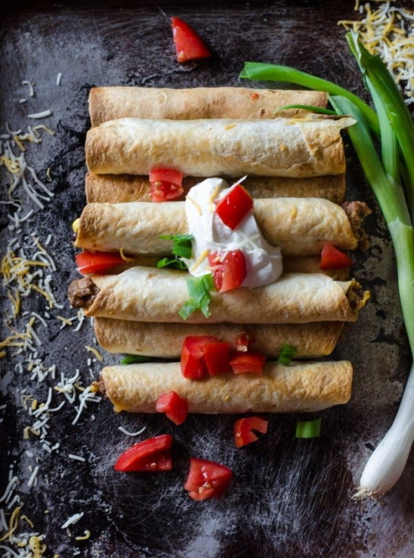 Easy Taco Taquitos Go Go Go Gourmet #superbowlparty #snacks #recipe