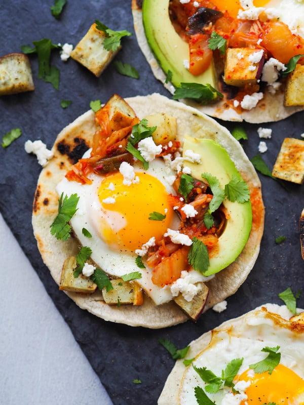 Kimchi Breakfast Tacos #tacotuesday #taco #recipe #dinner