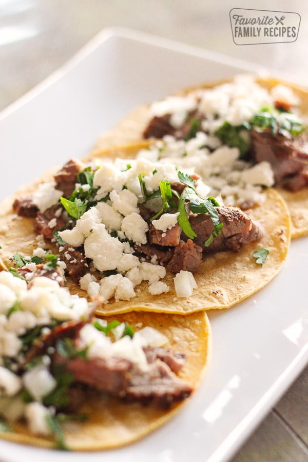 Grilled Steak Street Tacos #tacotuesday #taco #recipe #dinner