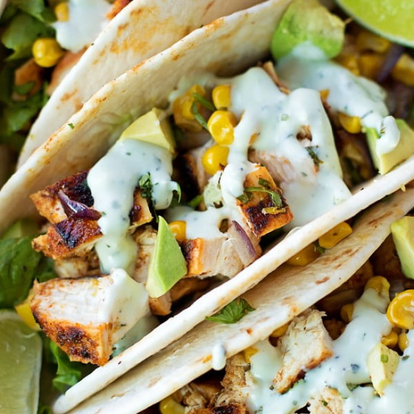 Chili Lime Chicken Tacos #tacotuesday #taco #recipe #dinner