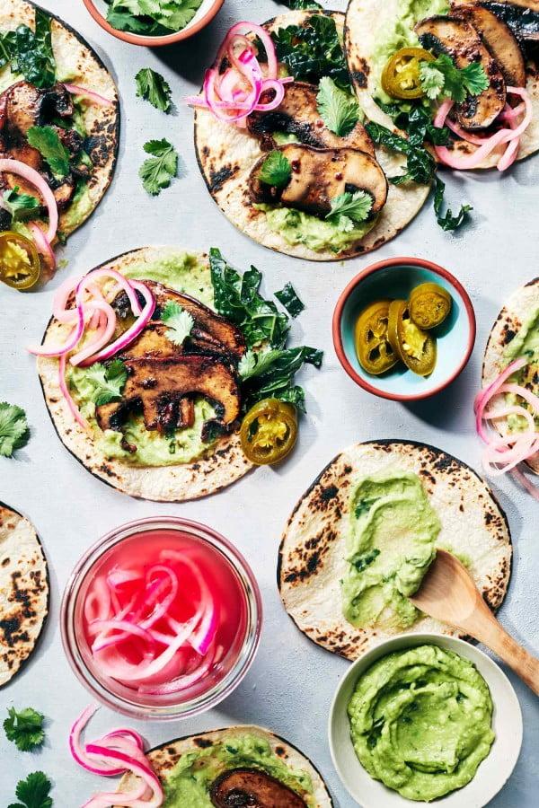 Smoky Mushroom Tacos #tacotuesday #taco #recipe #dinner