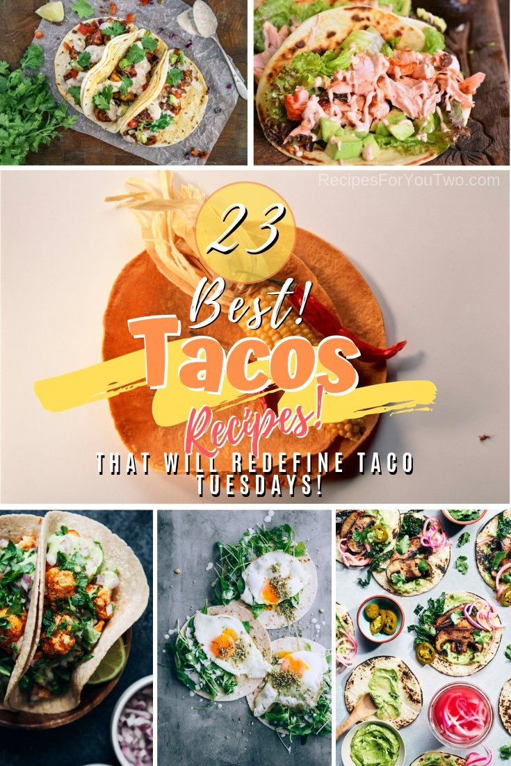 Make Taco Tuesdays your new thing at home by making these amazing taco recipes. Great list! #recipe #tacos #tacotuesday #dinner