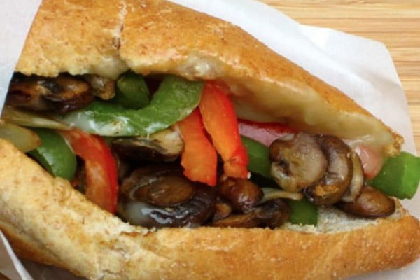 Philly Cheese Sandwich, Vegetarian Style #toasteroven #recipe #dinner
