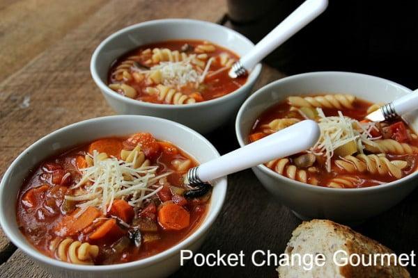 Crock Pot Vegetable Soup #vegetarian #crockpot #dinner #recipe
