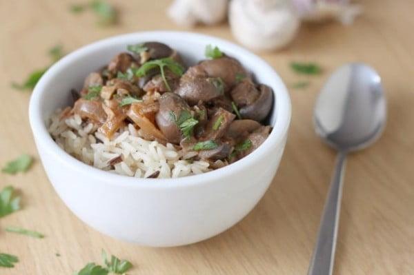 Pot mushroom stroganoff (Crock #vegetarian #crockpot #dinner #recipe