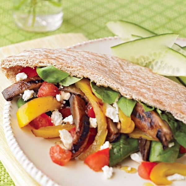 Grilled Vegetable Pitas Recipe #vegetarian #dinner #healthyfood