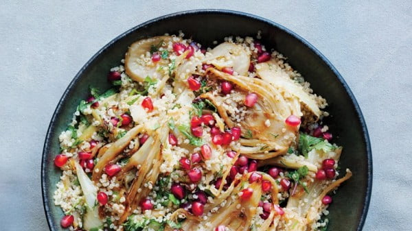 Quinoa, Fennel, and Pomegranate Salad Recipe #vegetarian #dinner #healthyfood