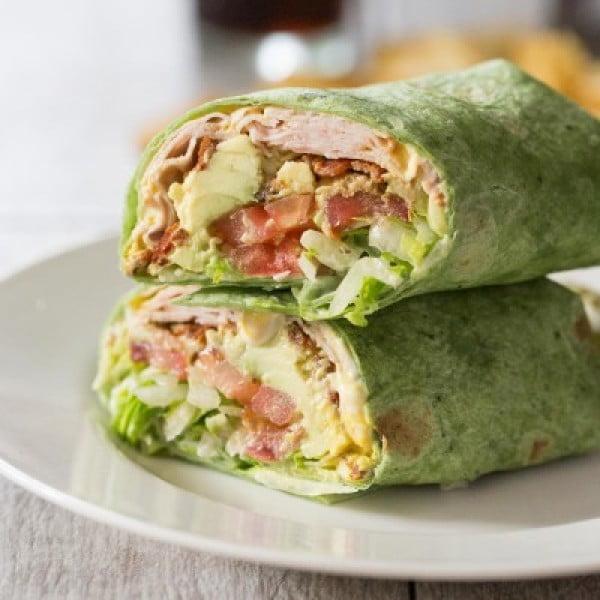 California Turkey Club Wrap - Tastes Lovely #recipe #wrap #dinner #snack