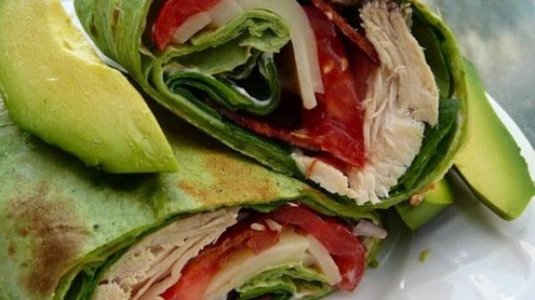 California Club Chicken Wraps Recipe #recipe #wrap #dinner #snack