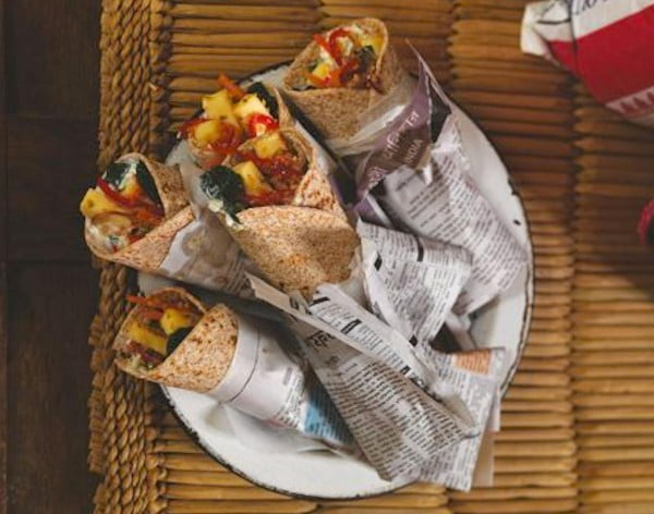 A Great Gordon Ramsey Recipe for Spicy Vegetable and Paneer Wraps #recipe #wrap #dinner #snack