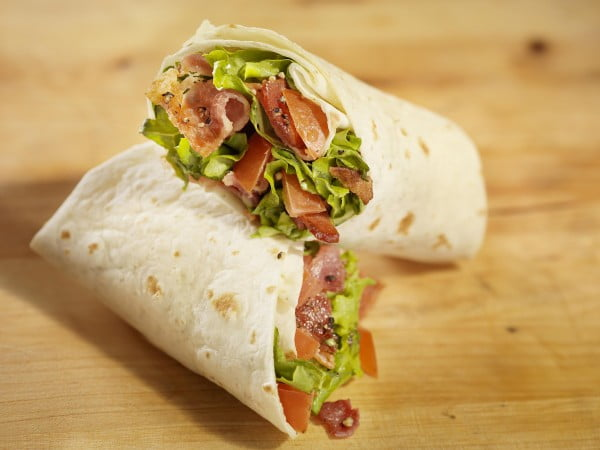 Easy BLT Wrap Sandwiches #recipe #wrap #dinner #snack